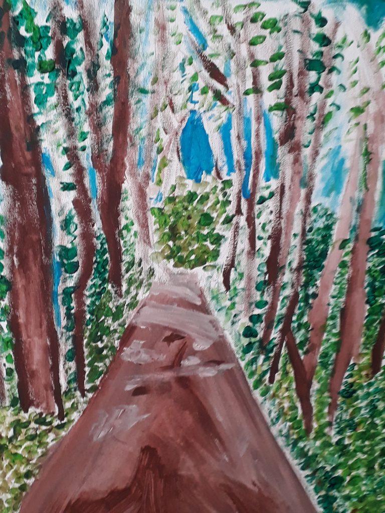 Jamie Sample painting